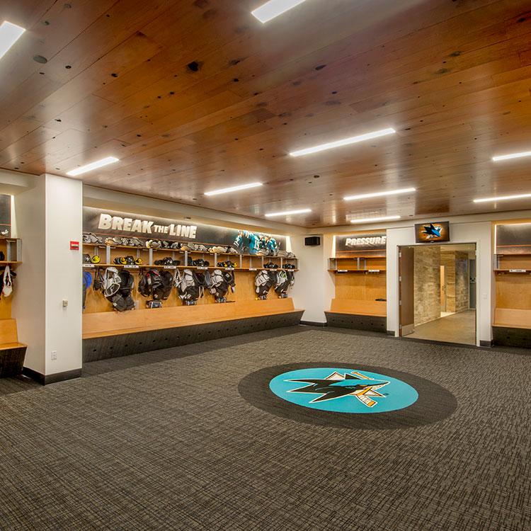 Sharks Ice Locker Room :: Ingram & Associates